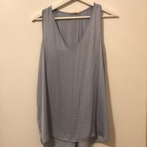 Light Blue satin tank